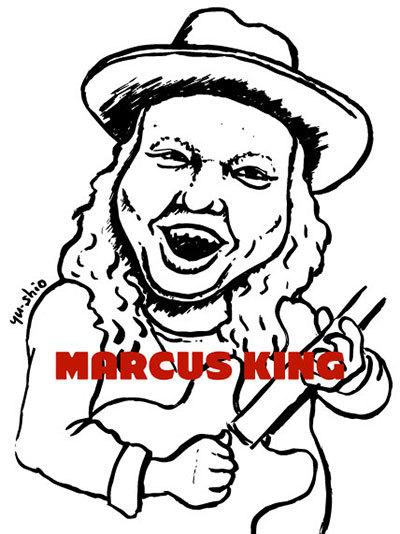 Marcus King caricature likeness