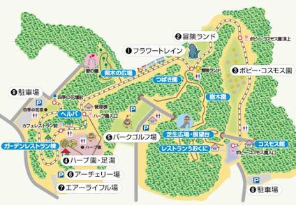 くりはま花の国 園内図