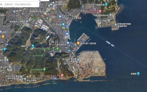 2020-11-02 久里浜グーグルマップ