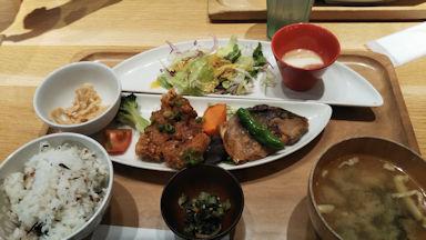 6/15 ランチ 魚とお肉のスペシャルセット おぼんDEごはん