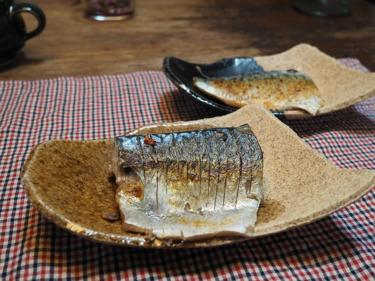 ■ ストウブで鯖の塩焼き