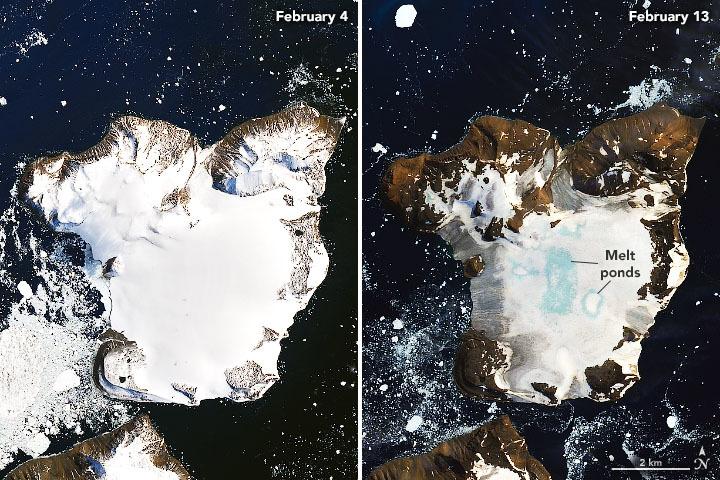 氷が溶ける南極