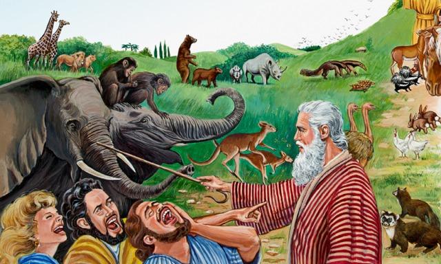 ノアをあざ笑う人々