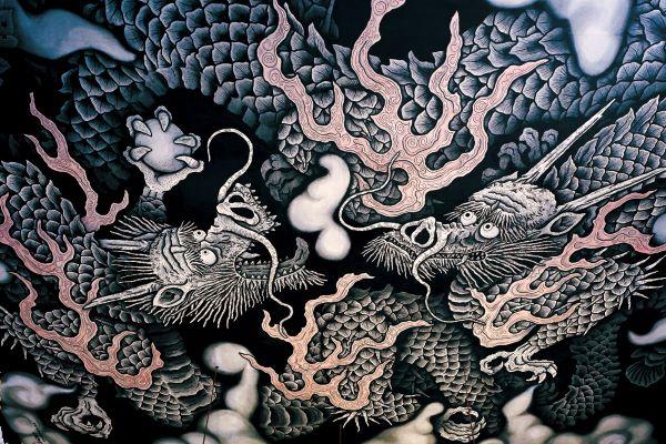 京都 建仁寺 法堂天井画 双龍図