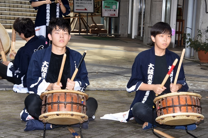 花の文化園、秋のコンサート・太鼓#1 (2)