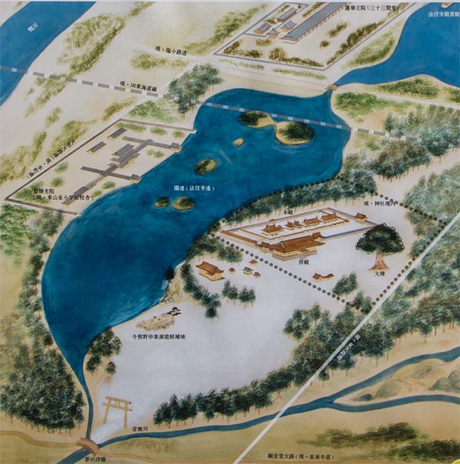 旧熊野本宮境内図2