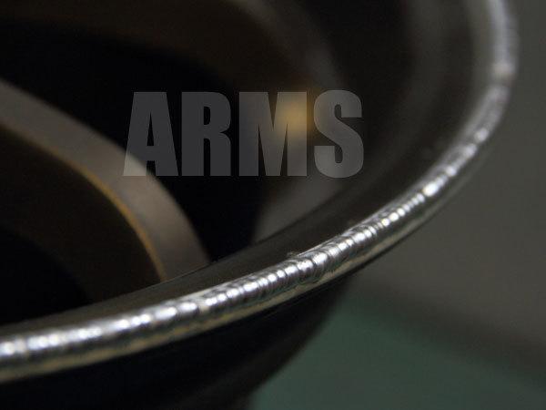 アルミ溶接にて傷の修理