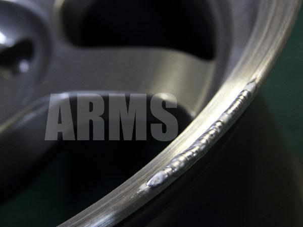 リムの削れをアルミ溶接で修復