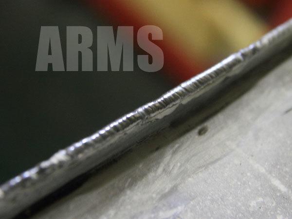 ガソリンタンクのアルミ溶接修理