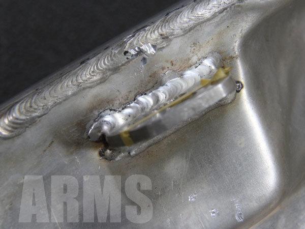 アルミステーの溶接修理
