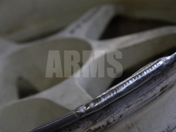 アルミホイールの修理、リペア