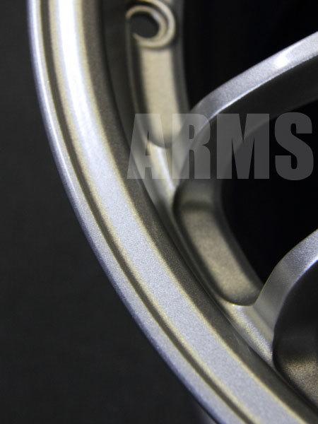 レイズ 鍛造アルミホイール 修理とシルバー塗装