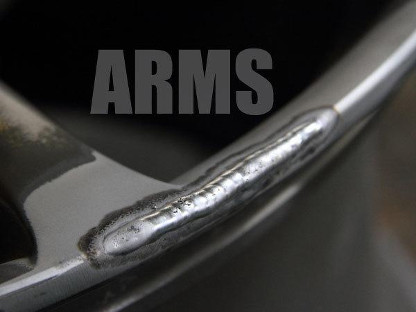 アルミ溶接にてホイールリムを修復