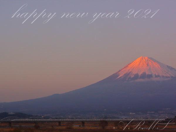 新年の赤富士