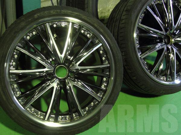 ホイール修理とタイヤ組み込みバランス