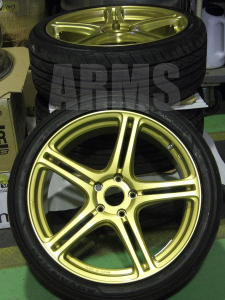ポテンザのタイヤを組み込み