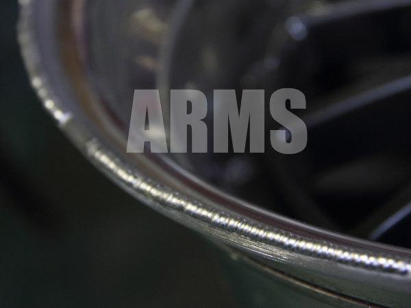アルミホイールを溶接修理