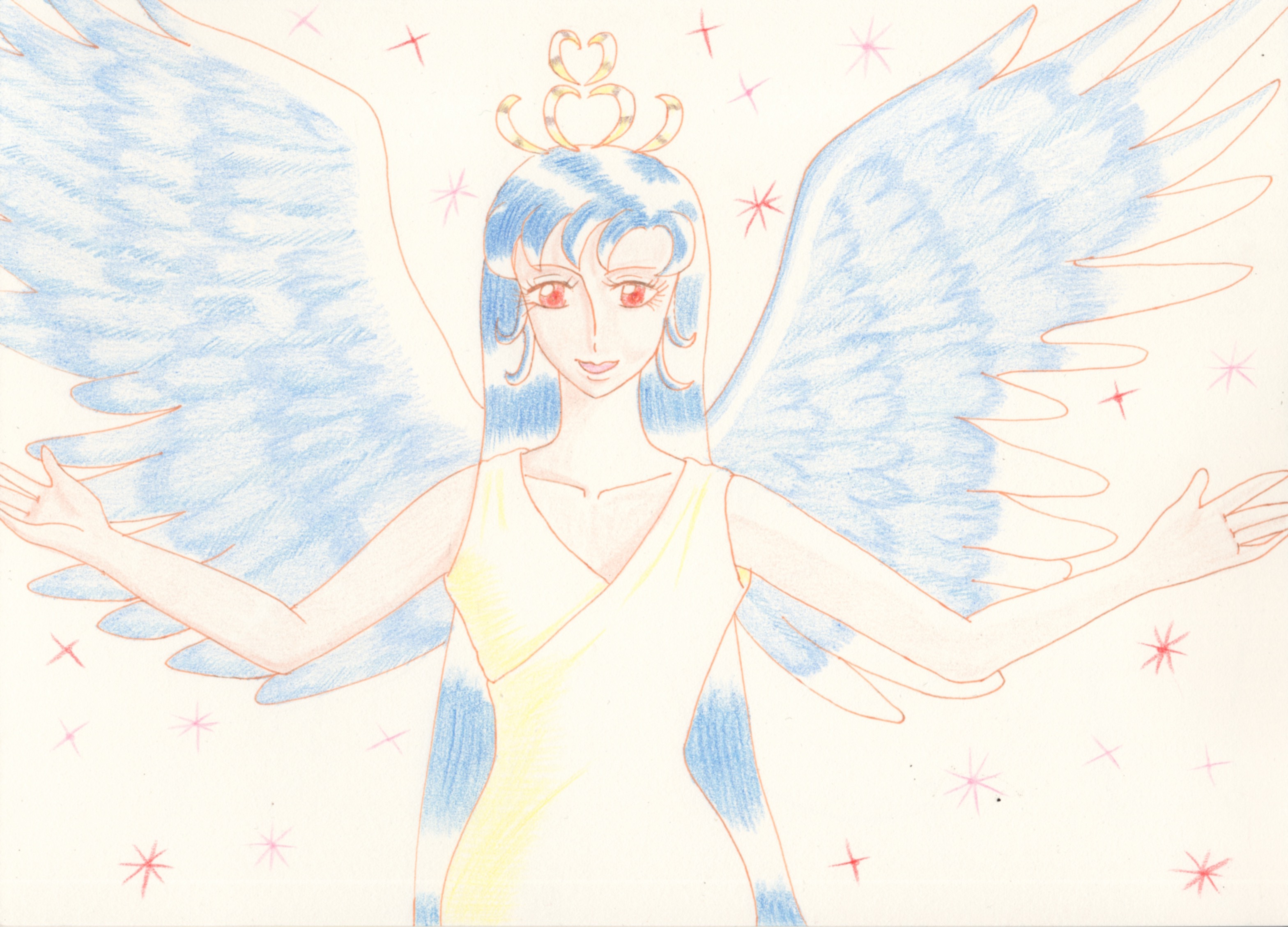 青い翼の天使