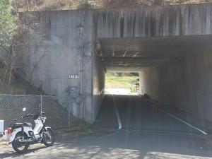 国道196号から分かれて高速今治小松道下の北部登口の入り口