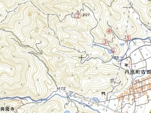 奥徳能林道(仮)地図1