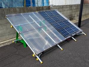 可搬式 PV パネルを載せる