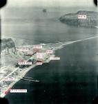米軍撮影の指宿海軍航空基地空襲ブログ用2