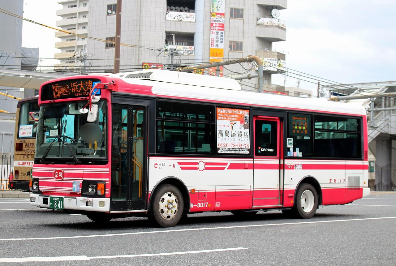 バス三昧 ... 京阪バス W-3017