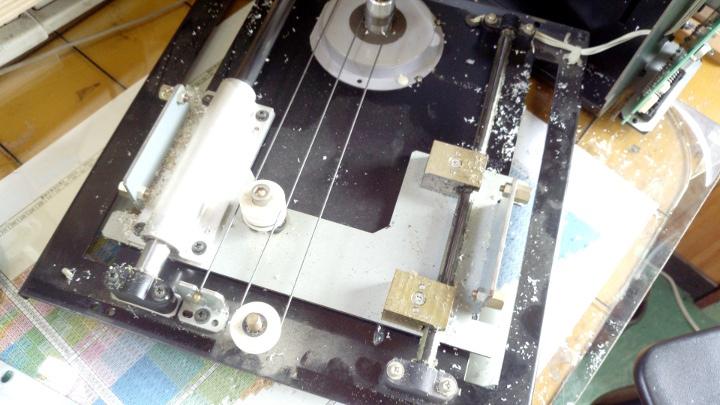 MDX-15 Y軸の自作部品の摩耗チェック