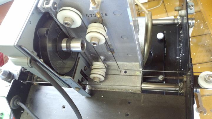MDX-15 各可動部の点検