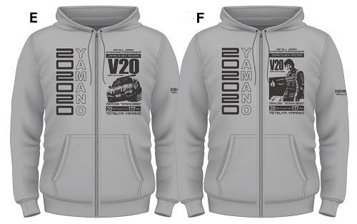 V20パーカーデザイングレー