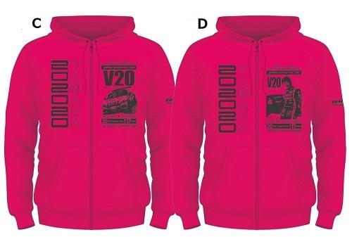 V20パーカーデザインピンク