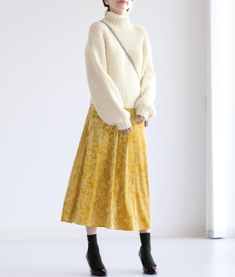 棒針編み無料編み図楽天毛糸ピエロレクレールバルーンスリーブセーター