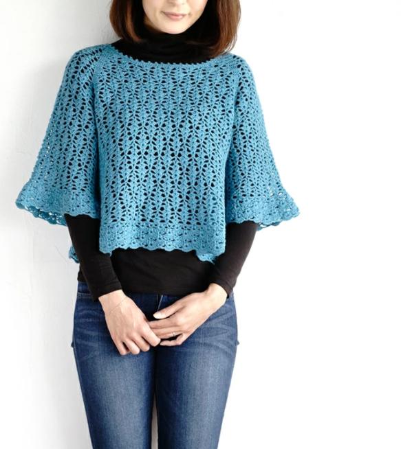 かぎ針編み無料編み図プリンセスリリープル