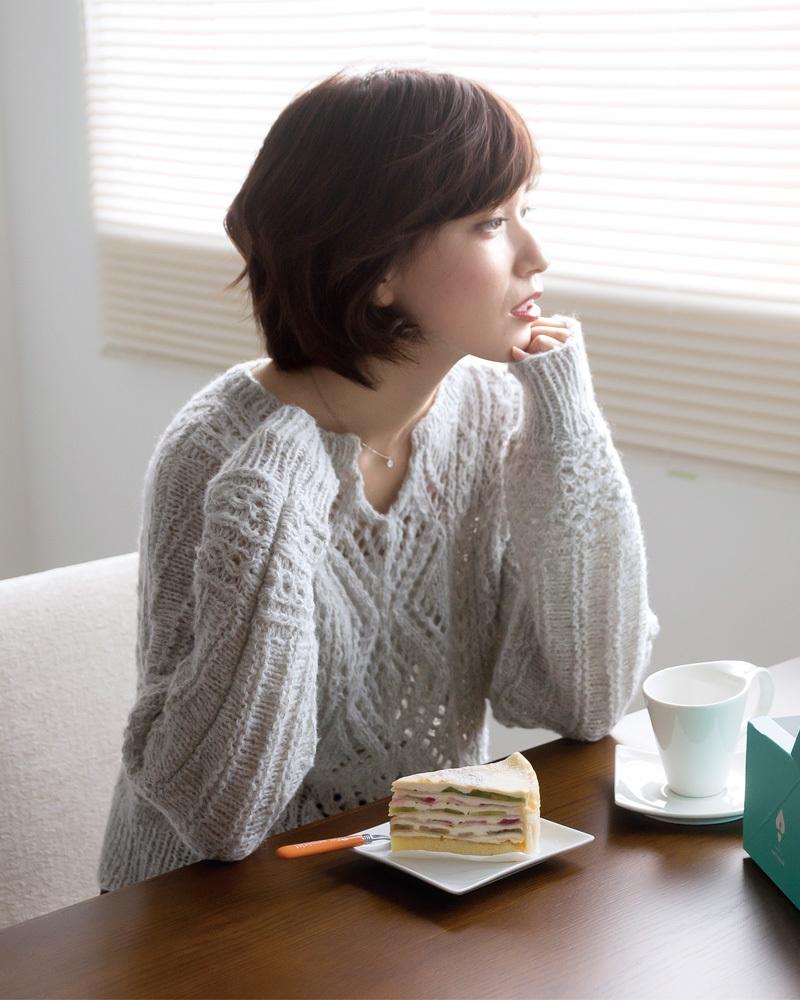 棒針編み無料編み図毛糸ピエロ純毛極細-Plus-ホイップスドルマンセーター