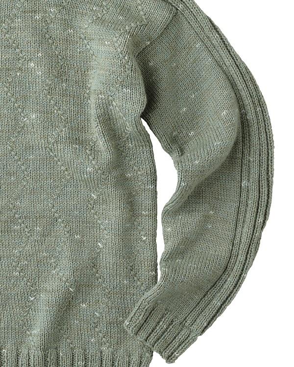 棒針編み無料編み図毛糸ピエロ中細純毛段染めユニセックスセーター5