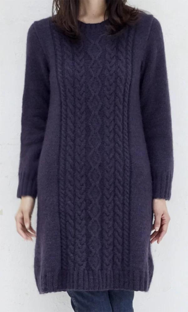 ワンピースの無料編み図レシピ毛糸手編みドミナノームのワンピース