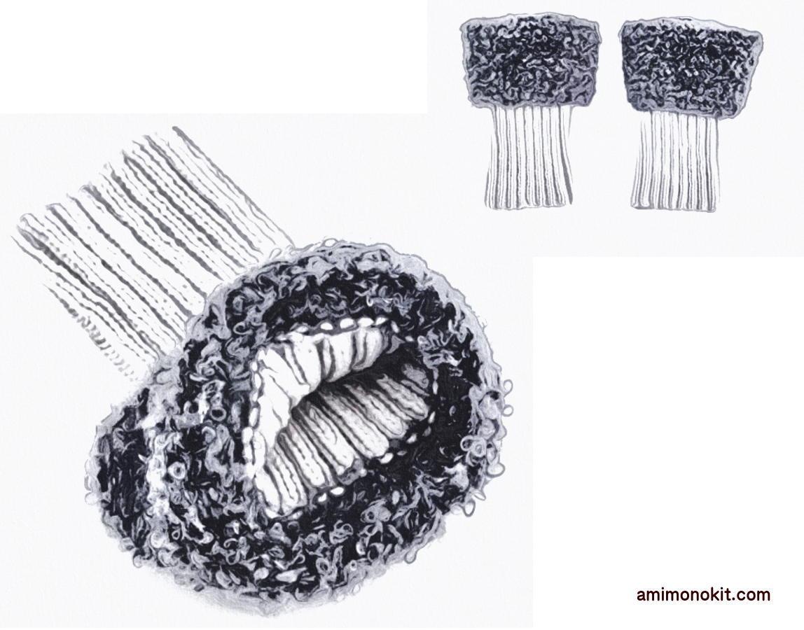 棒針編みレッグウォーマー無料編み図もこもこ1