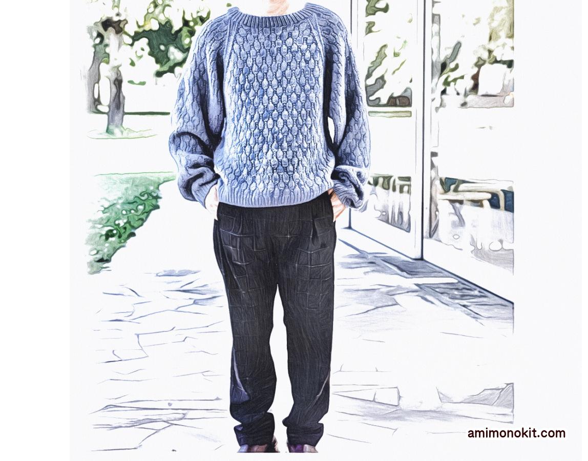 棒針編みペアで着られる手編みニット毛糸ピエロ楽天3