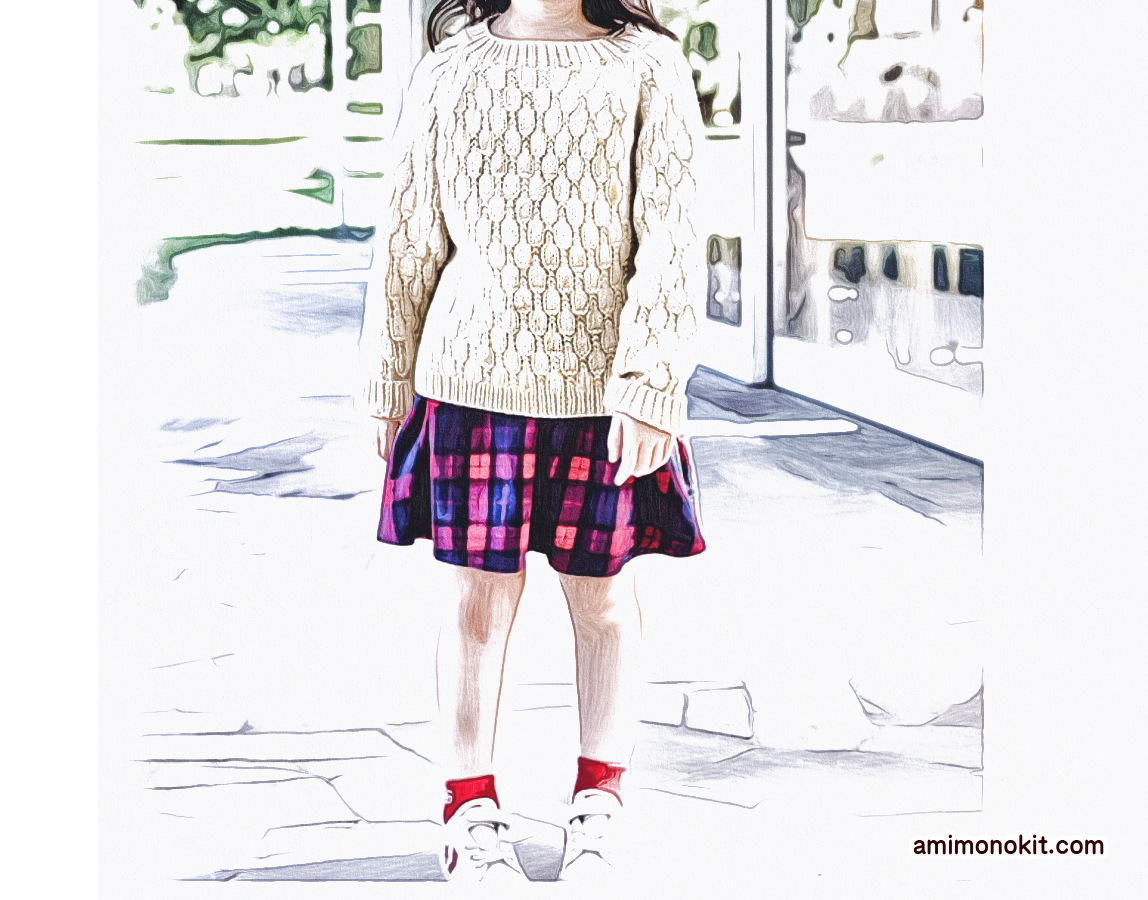 棒針編みペアで着られる手編みニット毛糸ピエロ楽天4