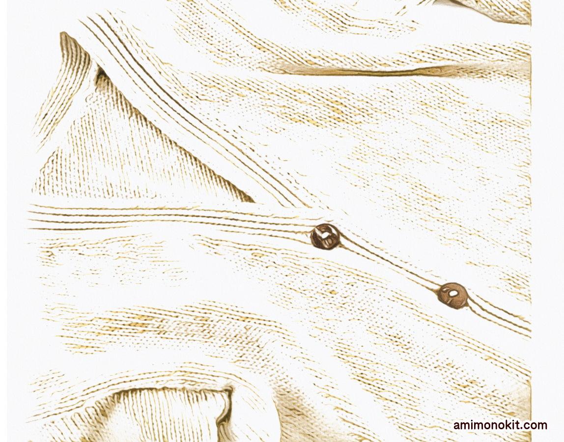 棒針編み無料編み図毛糸ピエロロワゾブリュポケット付きカーディガン3