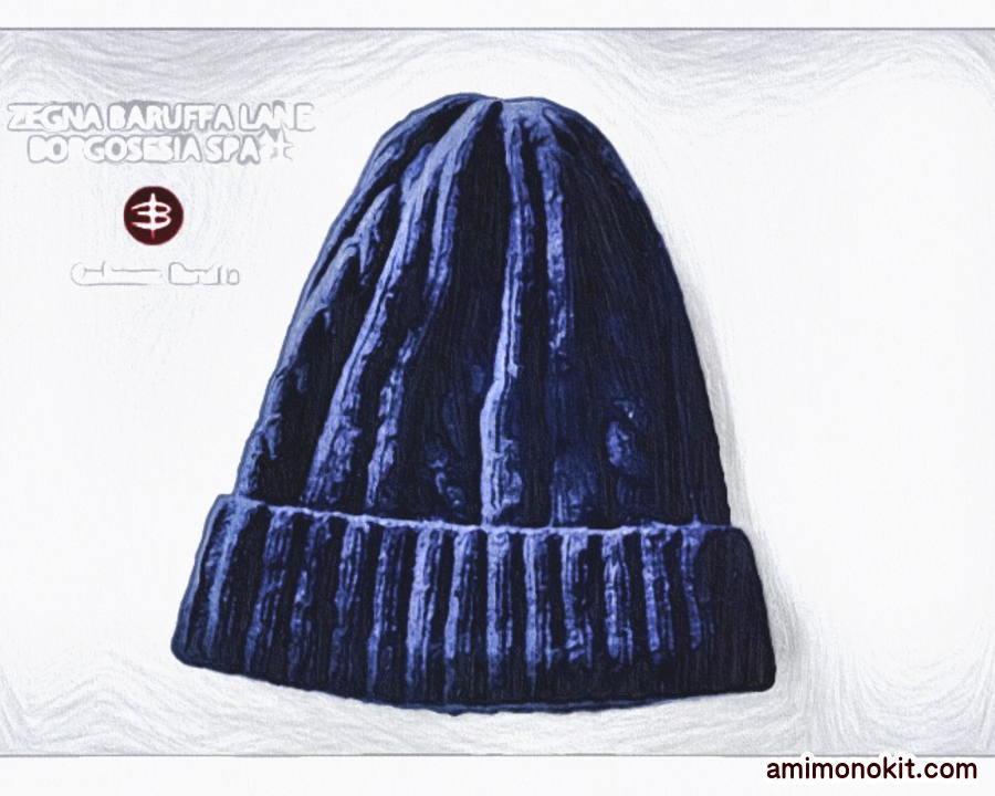 棒針編み無料編み図カシミヤ毛糸ケーブルニット帽子3
