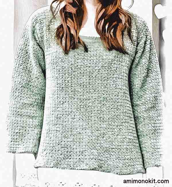 作品♪213w-3フレアースリーブのセーター3