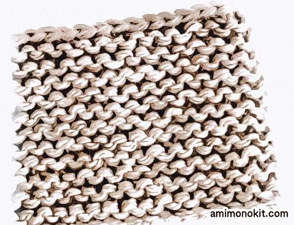 無料編み図棒針編みワンレイヤースヌード2