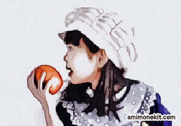 かぎ針編み無料編み図レシピキャスケット帽3