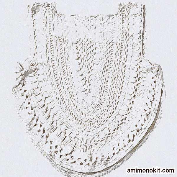 かぎ針編みクロッシェタンクトップ手編み編み図レシピ3