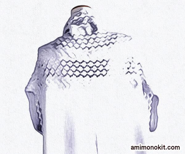 無料編み図毛糸ザッカストアーズ棒針編みショールジレ手編み4