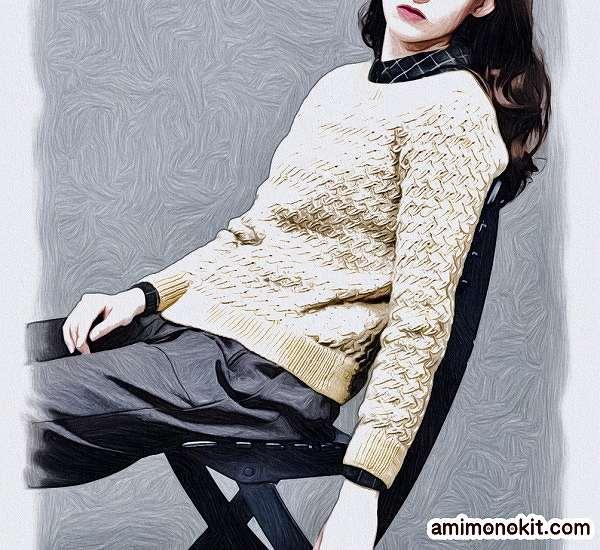 無料編み図棒針編みデザインセーター毛糸手編みプルオーバー2