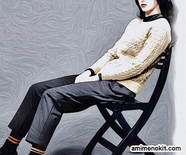 無料編み図棒針編みデザインセーター毛糸手編みプルオーバー1