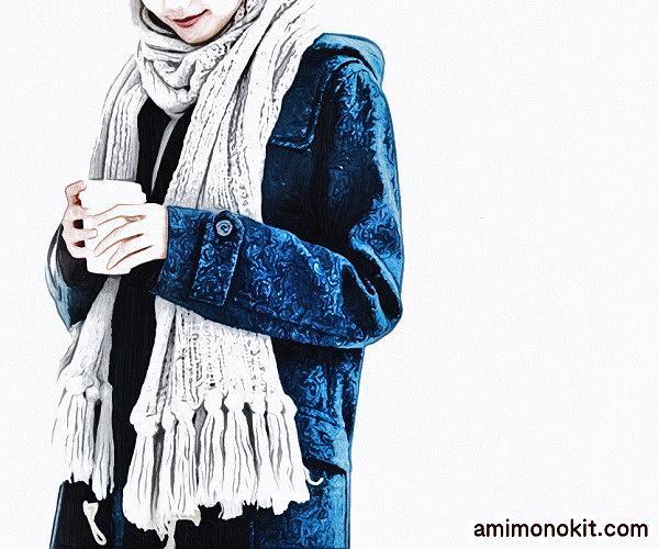 棒針編み手編みキットざっくりショール楽天毛糸ピエロ1