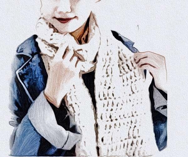 編み図つきかぎ針編みキット初心者マフラー毛糸ピエロ3